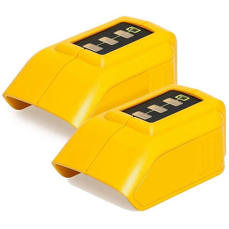 Adaptador de Carregamento Usb para Dewalt Carregador Conversor Li-ion Bateria Dcb090 Usb Dispositivo 2 Pces 14.4v 18v 20v