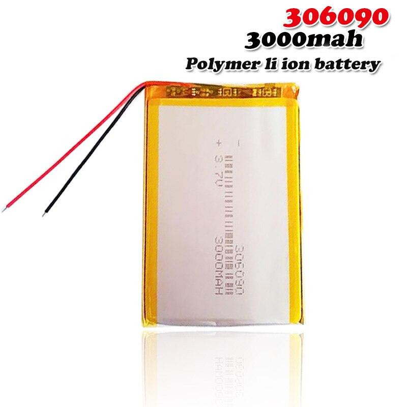 3,7 V 3000mah 306090 литиевая полимерная аккумуляторная батарея для планшета мобильного питания Bluetooth гарнитура MP3 MP4 MP5 GPS PSP MID