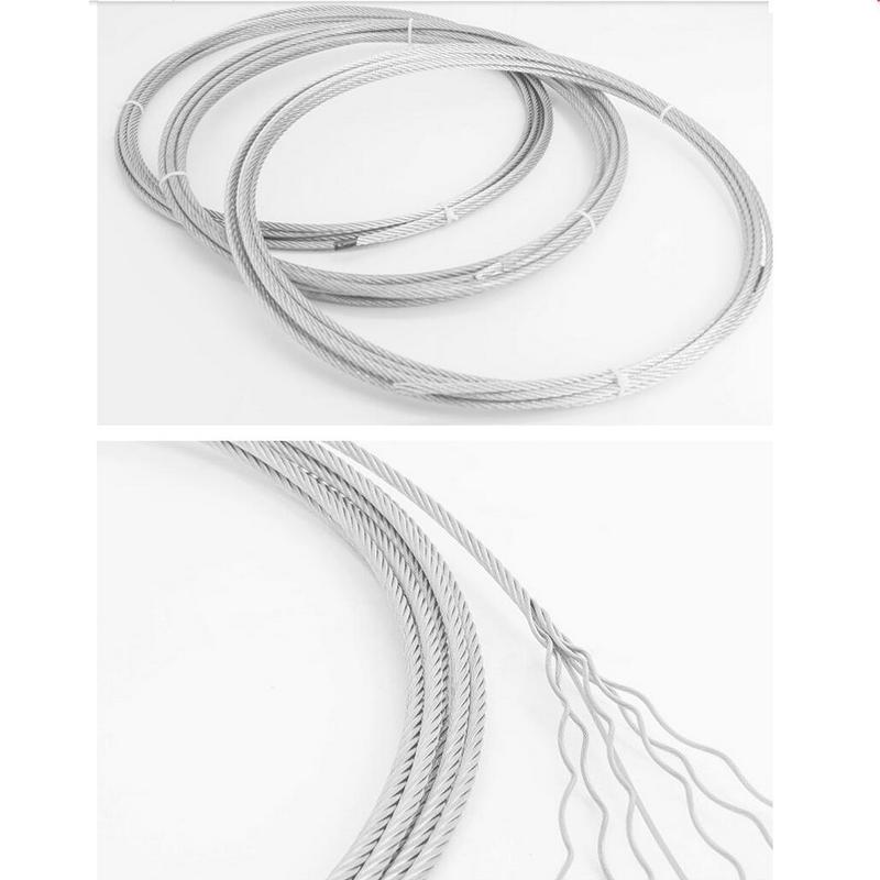 HQ CW01 SS304 حبل سلك فولاذي مقاوم للصدأ كابل 1X7 هيكل 0.6-3 مللي متر قطر سلك حبل