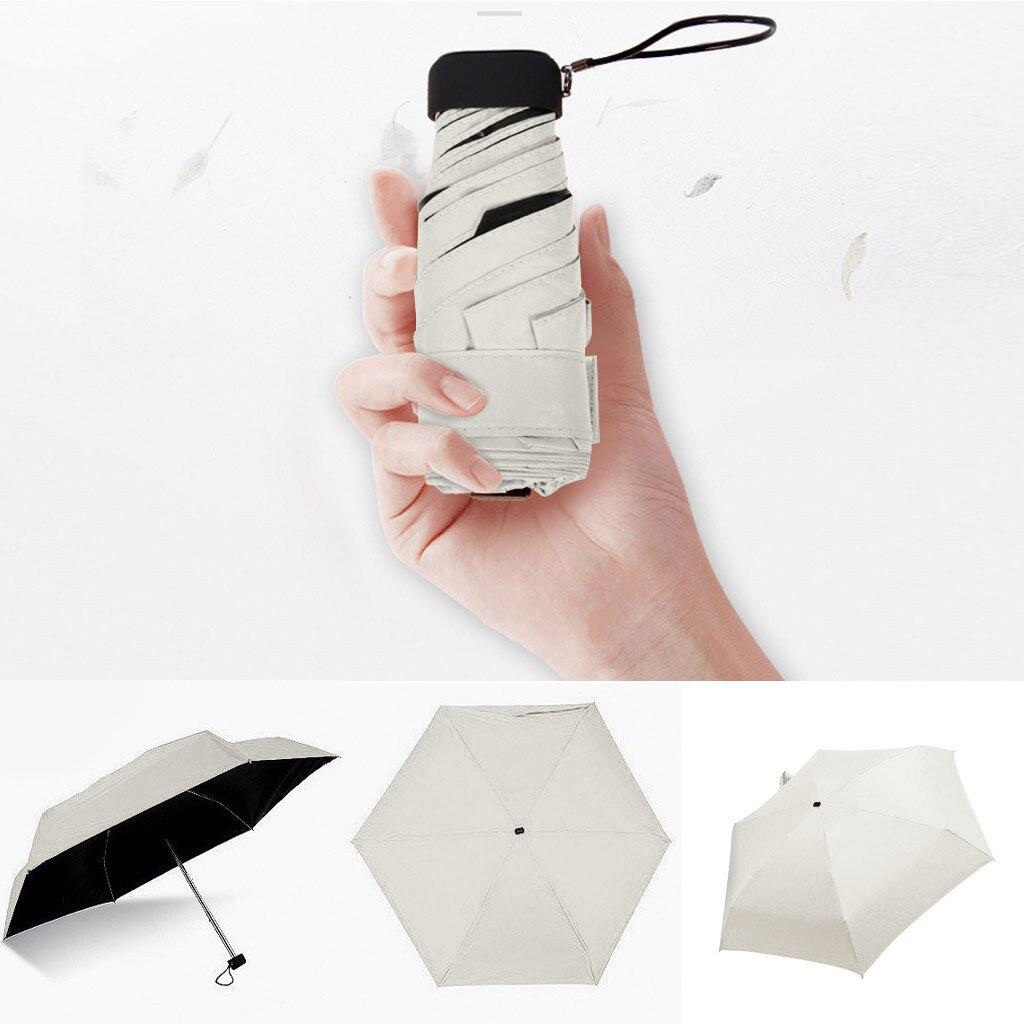 Paraguas plano y ligero para Mujer, sombrilla Plegable para lluvia y sol,...