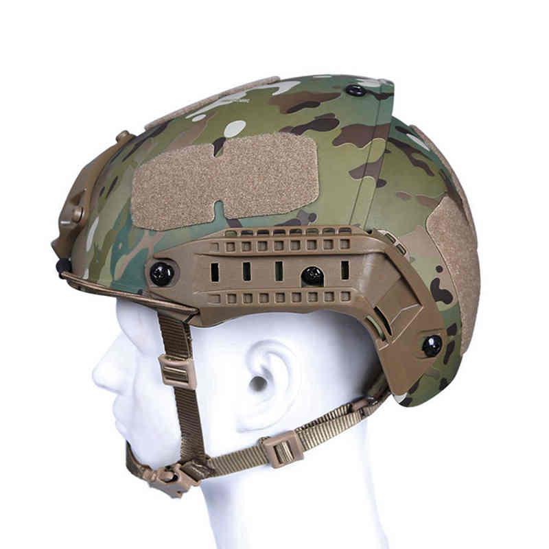 Casco táctico militar medio cubierto cascos para Airsoft seguridad cabeza protección caza tiro casco para Paintball deportes