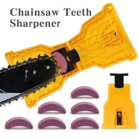 quality chainsaw teeth sharpener portable sharpen chain saw bar mount fast grinding sharpening chainsaw chain woodworking tools