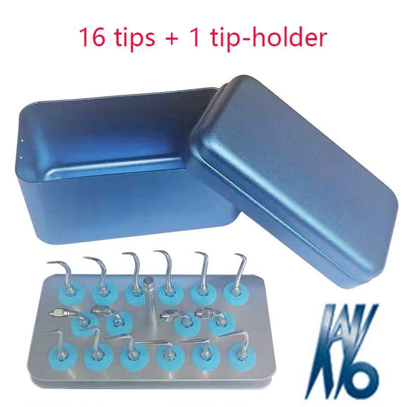 16 pieces/set & 1 tip-holder Dental Scaler Tips GK1/GK2/GK3/GK4/GK5/GK6/GK7/EK8 for KAVO