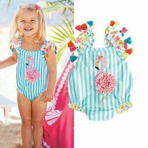 NEW 2020 Toddler Kids Girl Flamingo Bikini Swimwear Beachwear Swimming One-Piece Swimsuit