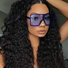 Vintage Big Square Sunglasses Women Top Quality Goggles 2021 Brand Fashion Women's Oversize Sun Glas