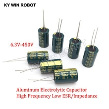 Condensatore in alluminio ad alta frequenza a bassa ESR 2-50 pezzi 10V 16V 25V 35V 50V 100UF 220UF 330UF 470UF 680UF 1000UF 1500UF 2200UF