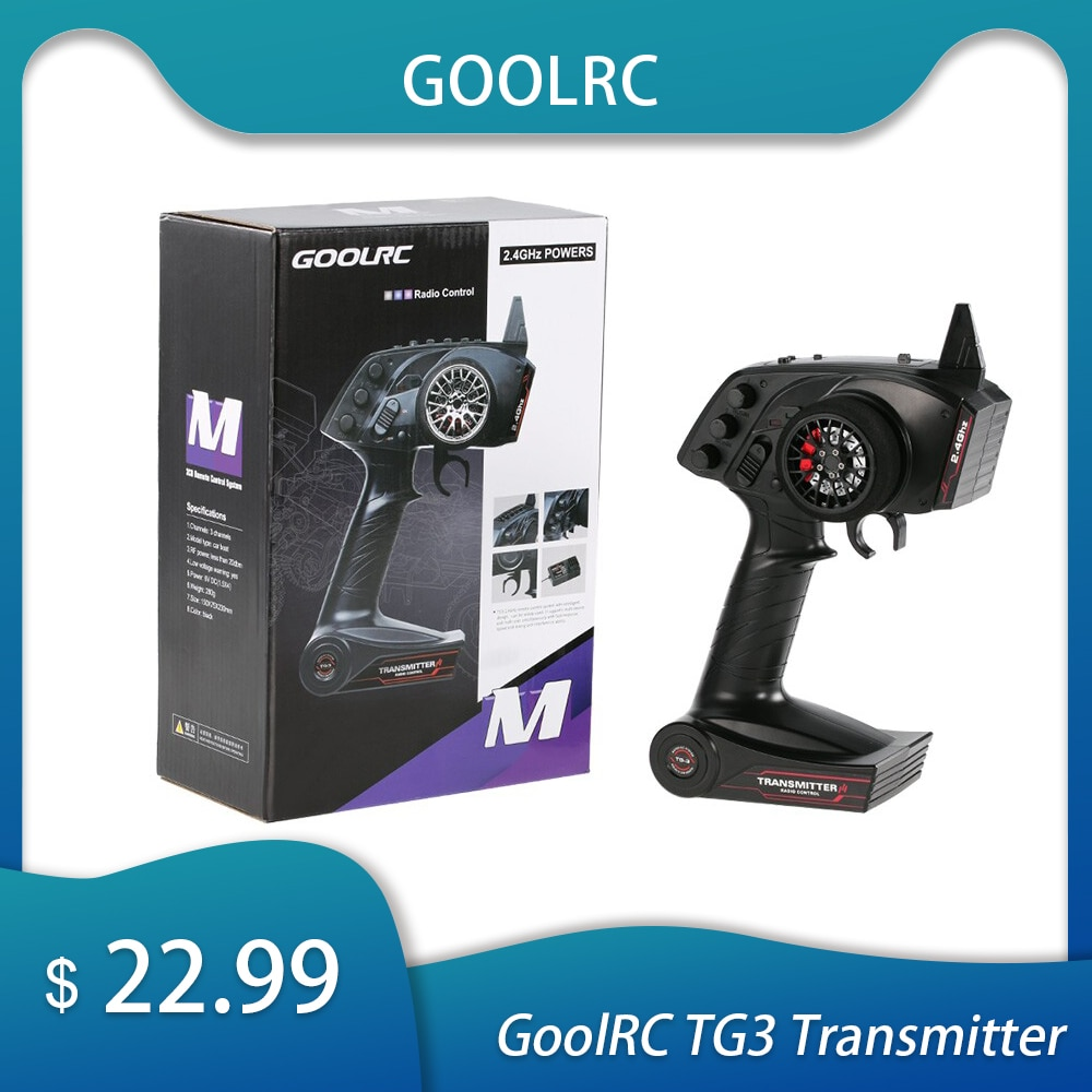 GoolRC de radiocontrol transmisor para RC coche barco receptor Digital TG3 2,4 GHz 3CH transmisor coche accesorios de Control remoto con receptor