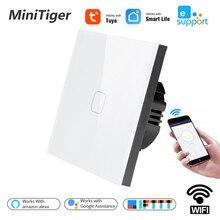 EU Standard 1/2/3 Gang 1 Weg Tuya/Smart Leben/ewelink WiFi Wand Licht Touch schalter für Google Home Amazon Alexa Voice Control