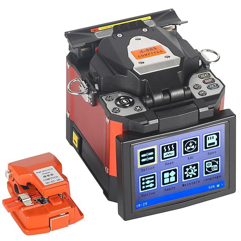 A-80S Orange Automatic Fusion Splicer Machine Fiber Optic Fusion Splicer FTTH Fiber Welding SM