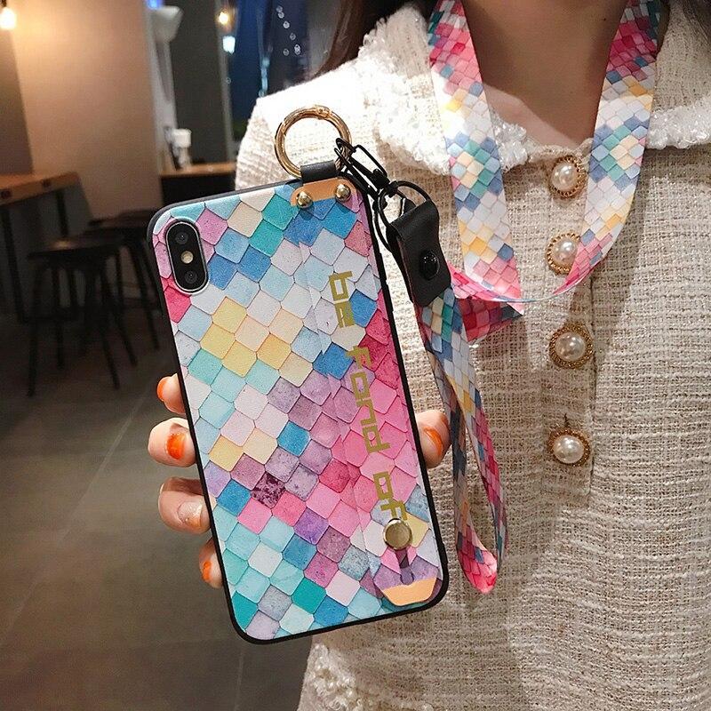 Pretty Phone Holder Case Voor Huawei Mate 20 30 P20 P30 Pro P40 Lite Nova 5T 5i 6 7i P Smart Z Plus 2019 Honor X10 20 Telefoon Cover