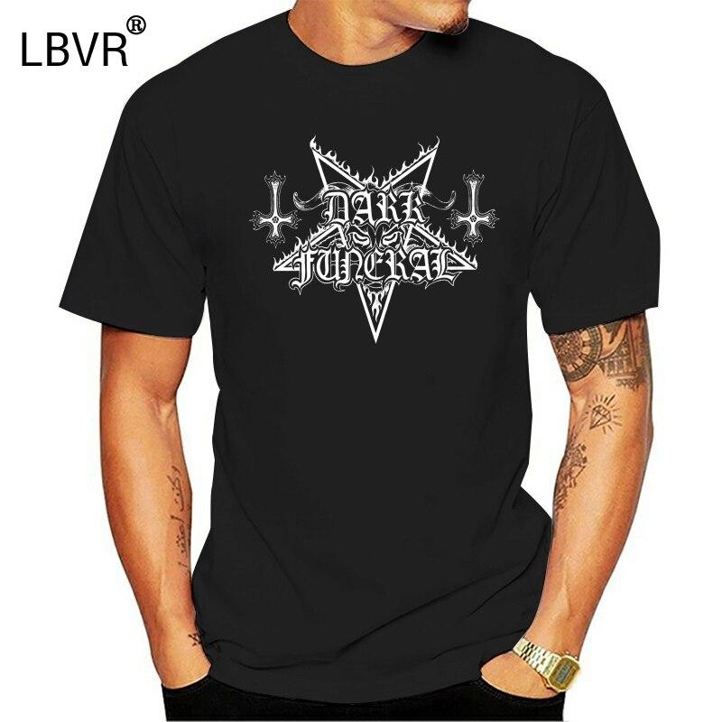 Escuro funeral sinfonias satânicas menst-camisa solta manga curta verão moda masculina camiseta lazer