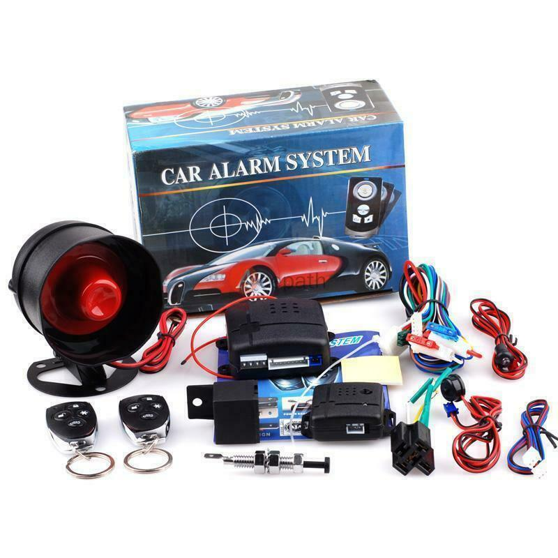 New Universal 1-Way Car Alarm Vehicle System Protection Security System Keyless Entry Siren + 2 Remo