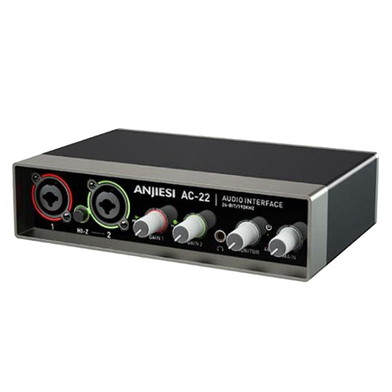AC-22 كارت الصوت المهنية Hifi AD و DA محولات مع دقة 24 بت/192 كيلو هرتز كارت الصوت للكمبيوتر