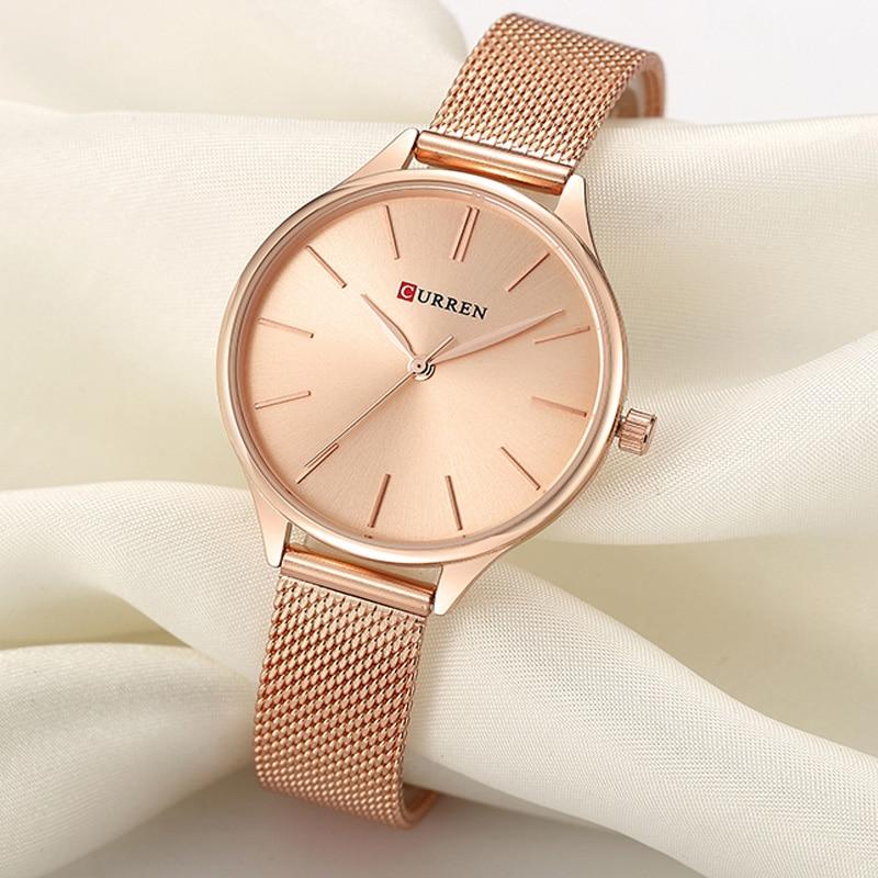 CURREN кварцевые часы женские модные ультратонкие стальные механические часы женские роскошные элегантные повседневные часы Montre Femme 9024
