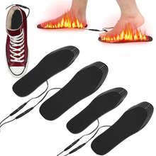 Plantillas calentadas por USB para zapatos, almohadilla de calentamiento de pies, esterilla calefactora para esquí al aire libre y caza, calentador eléctrico Unisex