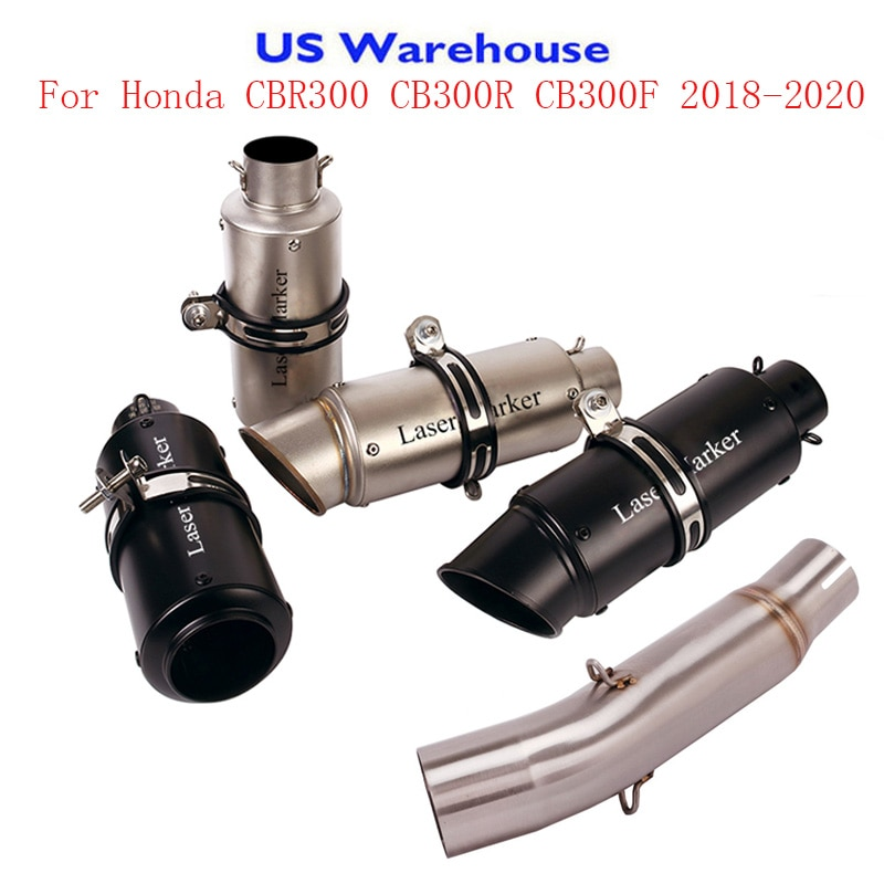 For Honda CBR300R CB300R CB300F 2018-2020 Motorcycle Exhaust System Muffler DB Killer Silencer Connect Pipe Middle Link Pipe