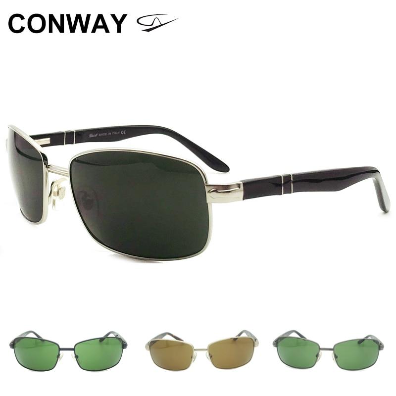 كونواي ريترو ساحة النظارات الشمسية للرجال النساء سبيكة معدنية نظارات شمسية UV حماية ظلال نظارات تصميم العلامة التجارية