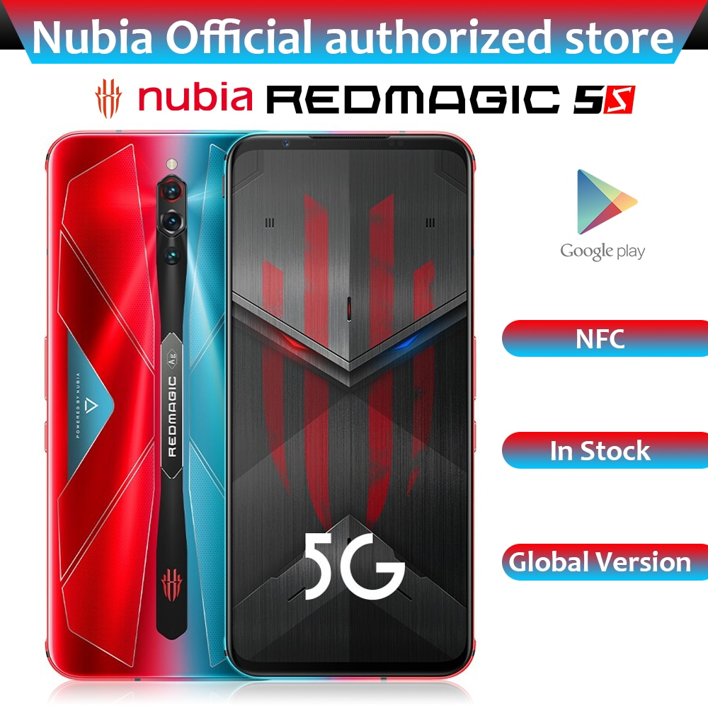 Global Version ZTE Nubia Red Magic 5S Gaming Mobile Phone 6.65 inch 144Hz AMOLED 64MP Snapdragon 865 5G Wi-Fi 6 Smartphone