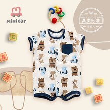 2021 Newborn  Cotton Baby Jumpsuit Short Sleeve Baby Clothing One-Piece Summer Unisex Baby Clothes G