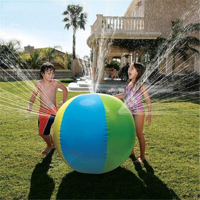 Brinquedo Bola de Aspersão de Água Pulverizador respingo Piscina Albercas Grandes Piscina Aspersor Spray de Água Inflável Bola de Praia Ao Ar Livre Verão