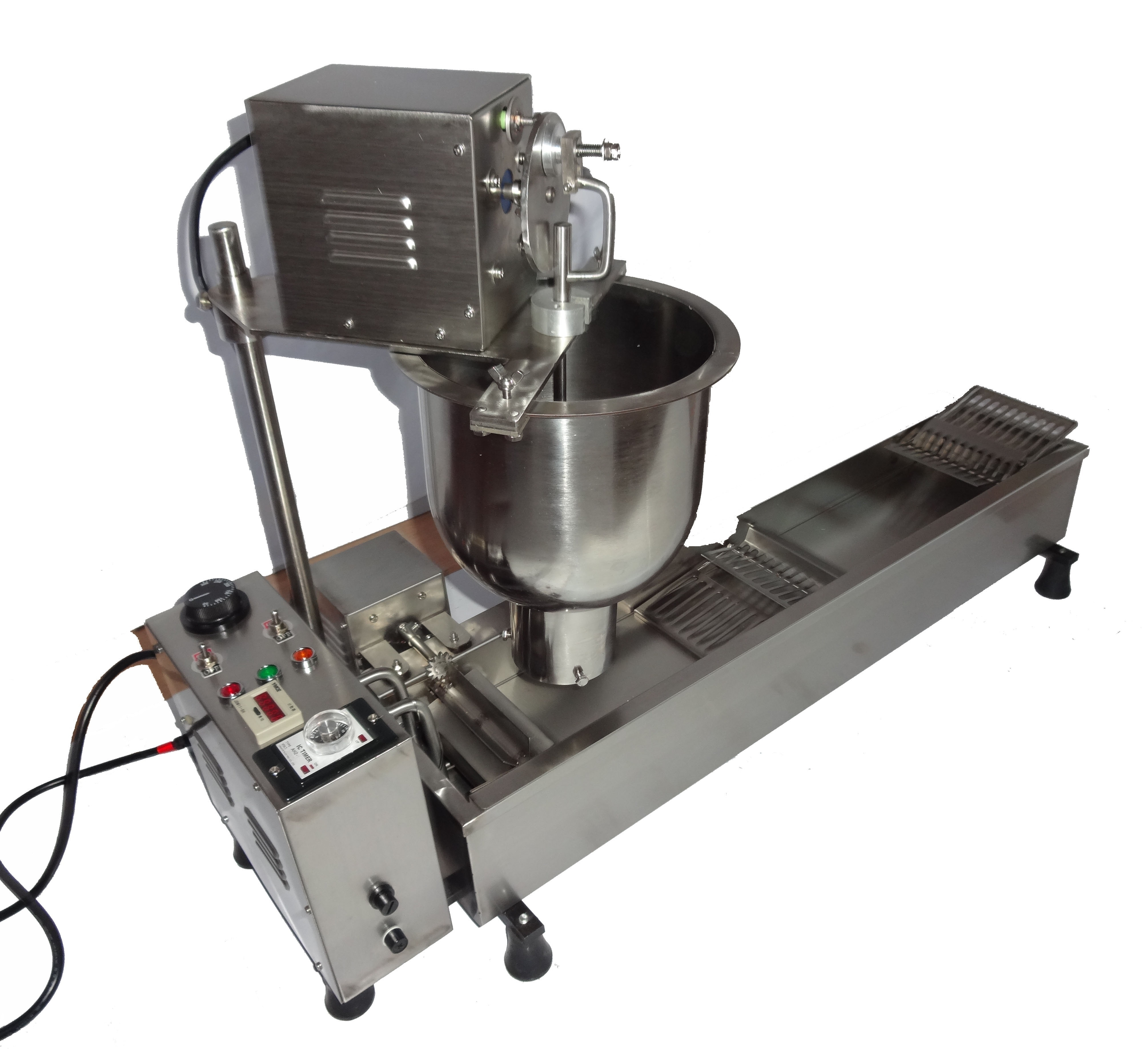 2020 Industrial single row donut machine donut maker donut making machine with fryer in USA hot sale popular 5l commercial spanish churro maker machine with 6l fryer maker churros making machine with ce in high quqlity