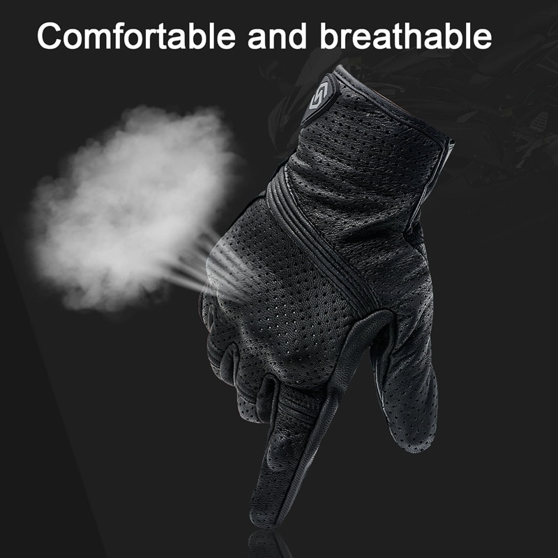 1 Pair Motocross Riding Gloves Outdoor Protective Gloves Leather Windproof GlovesPressSn Design Gloves enlarge