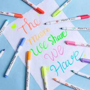 16pcs Minty smell color highlighter pen set Soft tip Mild Fluorescent marker liner drawing pens Office School Art supplies F790