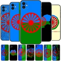 gypsy romani roma flag phone cases for iphone 11 pro max case 12 pro max 8 plus 7 plus 6s iphone xr x xs mini mobile cell women