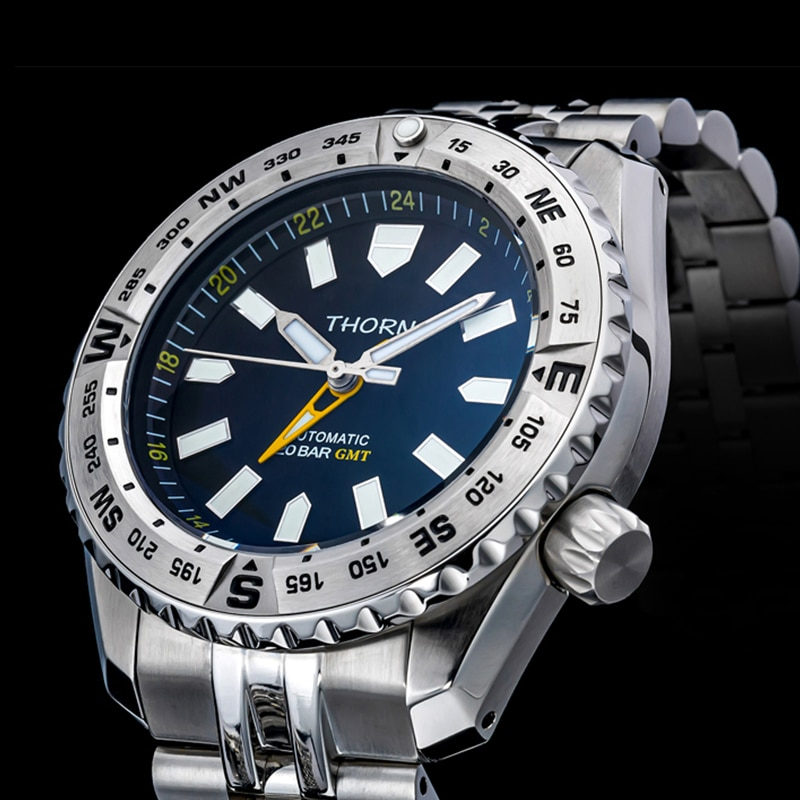 SHIRRYU New Arrival Men's Diver Watch Land Overlord Sports Mechanical Watch Automatic Chronograph Movement Watch Men enlarge
