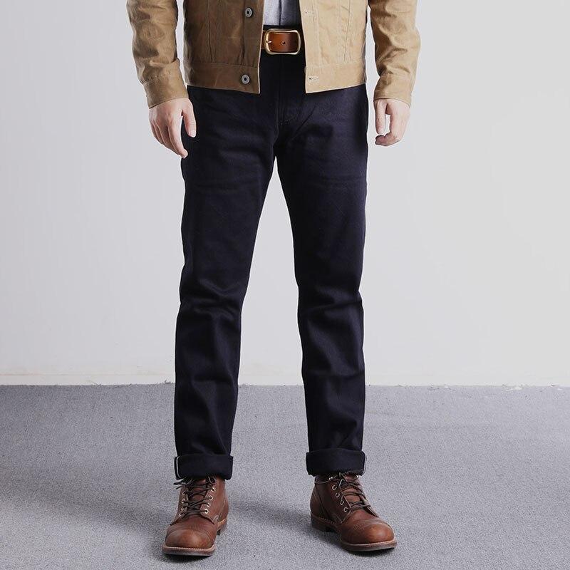 RGT-0006 Vintage 14oz Indigo Selvage Stylish Trousers Mens Casual Chino Raw Denim Jean Pants