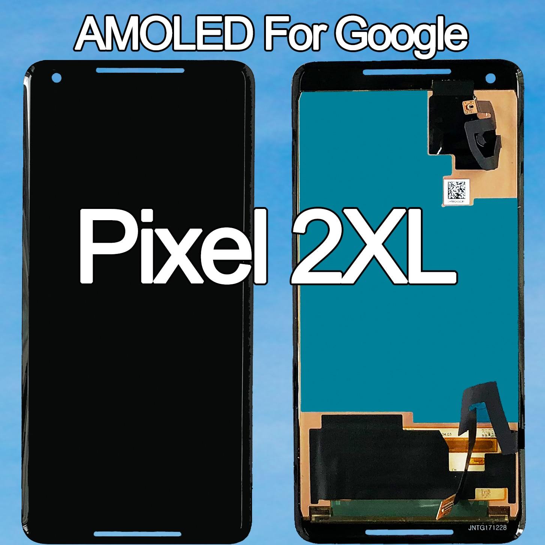 100 original amoled para google pixel 2 xl display lcd tela de toque para google