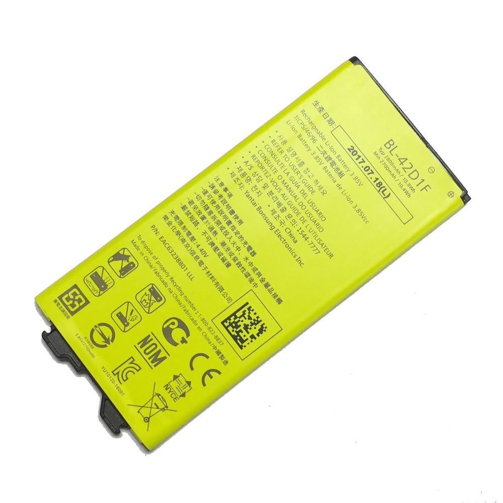 Batería BL-42D1F para LG G5 H850 H831 H820 US992 F700S 2800mAh capacidad BL42D1F BL 42DIF batería