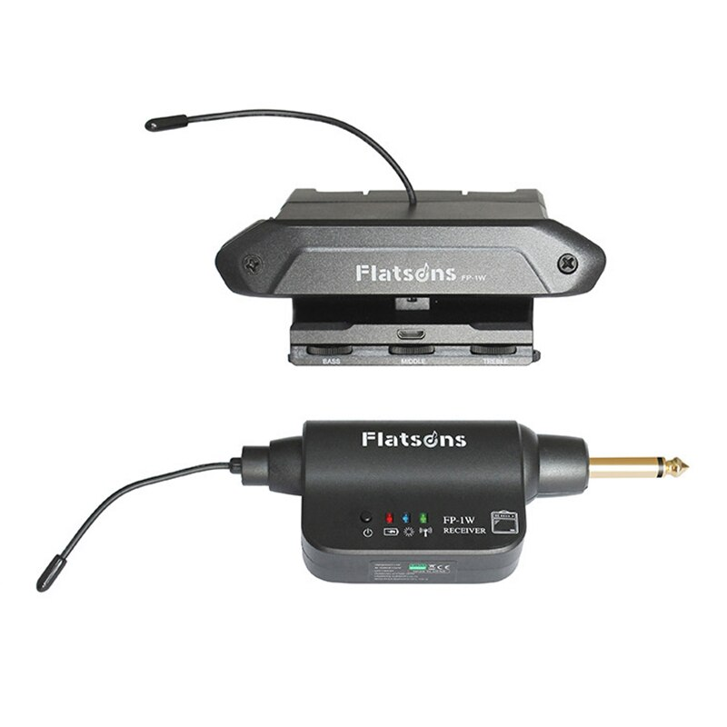 Flatsons FP-01W Wireless Guitar Pickup Magnetic Control Treble Middle Bass Effect with Microphone Acoustic Guitar Pickups Parts enlarge