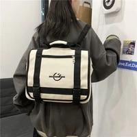 2021 fashion men tote backpack for teenager boys black shoulder bag women travel convertible oxford waterproof student backpacks