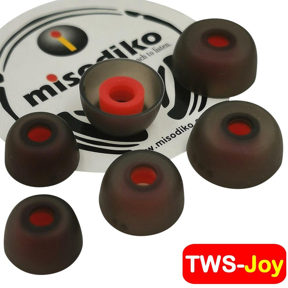 Auriculares de silicona misodiko TWS-Joy para Jabra Elite 75 t, Elite 65 t/Active/Sport, Evolve 65 t, aire/oro atípico creativo