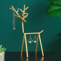 1pcs creative household iron geometric deer jewelry rack table earrings necklace storage display stand for decorations