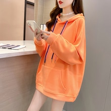 Sweatshirt Women's Hooded Spring and Autumn New 2021 Versatile Ins Casual Top Loose Long Sleeve Jack