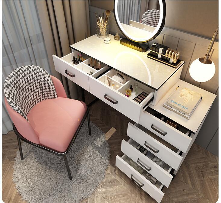 Nordic светильник класса люкс, комод для спальни, современный простой веб-знаменитости ins для туалетного столика с лампа туалетный столик шкаф ...