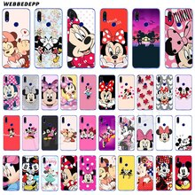 Soft TPU Silicone Back Cover Case for Xiaomi Mi 9 SE Transparent Case Cute Mickey Minnie mouse