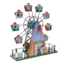 Music Ferris Wheel Music Box Merry Go Round Wind-up Kids Toy Home Collections