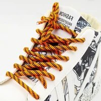 coolstring 4 5mm double color combination orange sky blue shoelaces no elastic stonger ropes for sneaker sport running shoes 350
