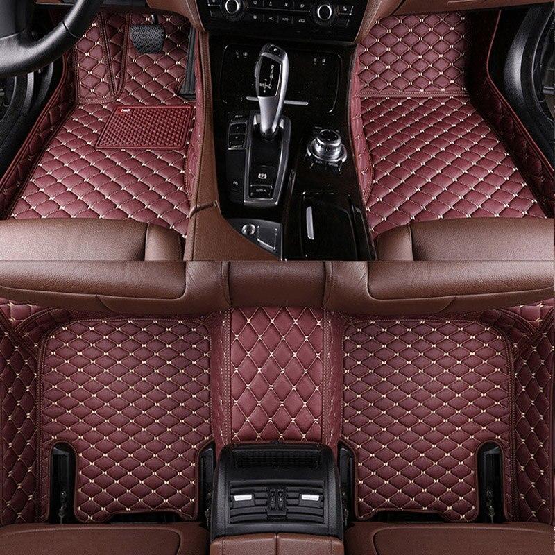 Alfombrillas para el suelo del coche, alfombra todo incluido, forro de cuero...
