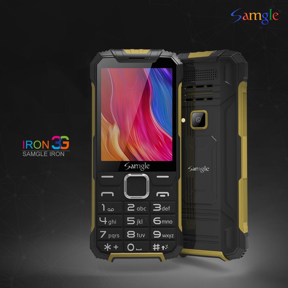 """Samgle 3G WCDMA 2,8 """"Pantalla delgada rugosa característica teléfono Dial de velocidad súper larga espera linterna Whatsapp teléfono móvil superior"""