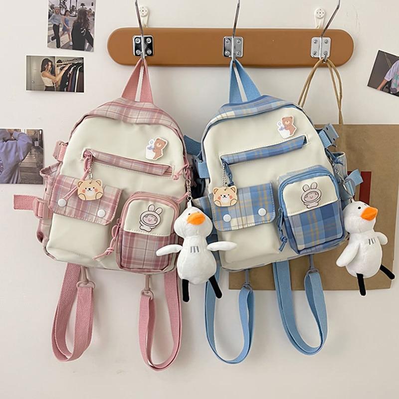 Женский вместительный рюкзак Harajuku, водонепроницаемый нейлоновый женский школьный рюкзак, женский рюкзак для ноутбука, ранцы для девушек ...