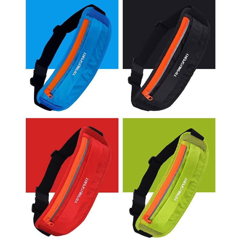 Portable Waterproof Outdoor Sports Waist Pack Case Belt Running Bag GYM Zipper Pocket Waist Bag Wallet Pouch Fitness Accessories