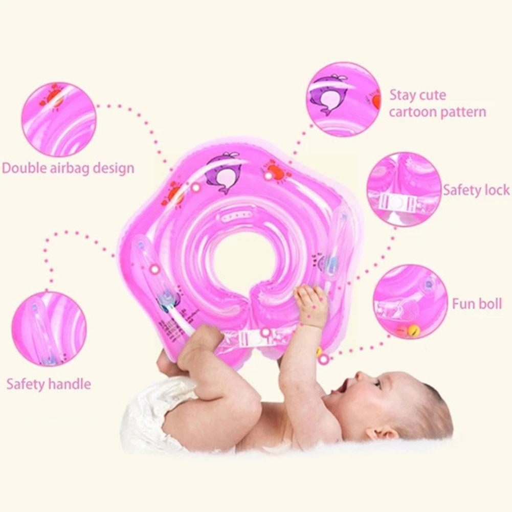 2017 new high quality safety baby need not inflatable floating ring round the neck round floating ring toy baby swimming pool Baby Floating Ring Children's Buoy Swimming Pool Accessories Inflatable Bathtub Ring Ring Floating Toy Inflatable Neck Roun I9N5