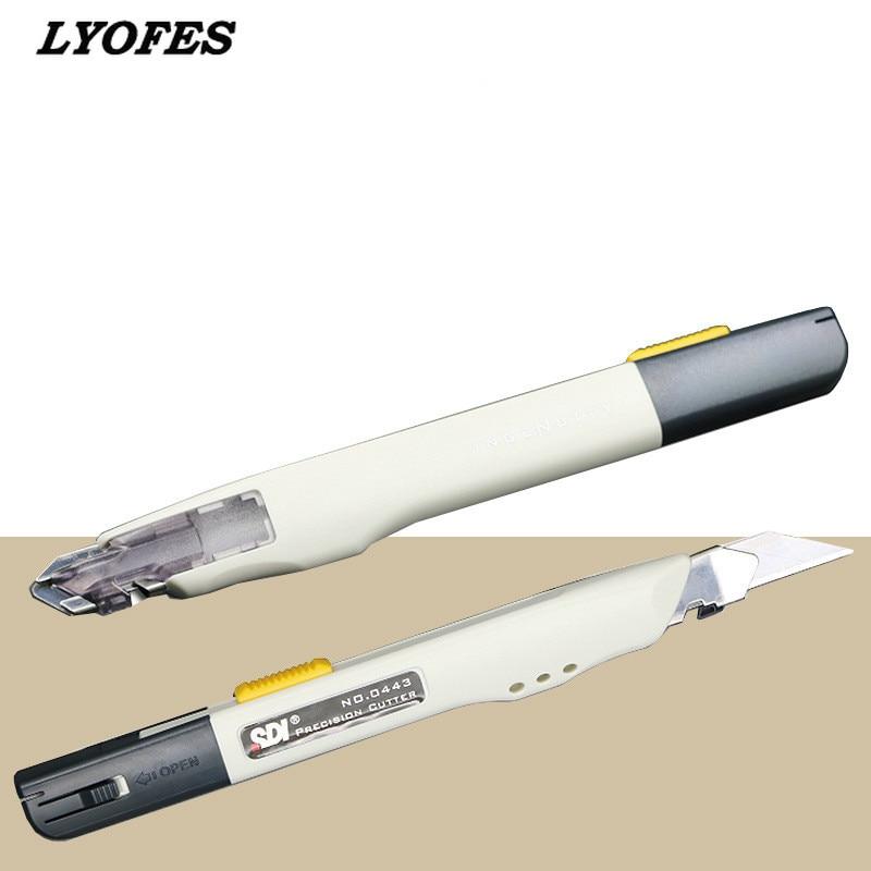 Профессиональный нож-резак в коробке, прецизионный японский канцелярский нож с лезвиями, резак для бумаги, металлический нож для творчеств...