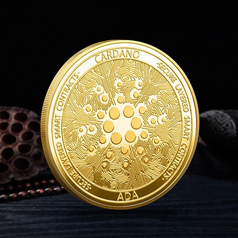 Сувенирная позолоченная монета Ada Кардано, коллекционная криптовалютная монета, креативный подарок, памятная монета