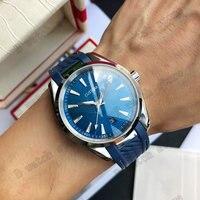 Classic Watch 41.5mm Men\'s Automatic Watch Miyota 8215 Movement Waterproof Luminous Mechanical Watch Rubber Strap