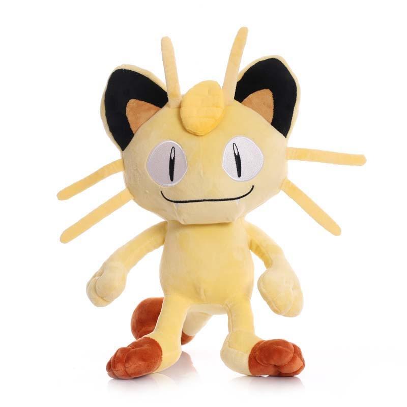 25cm TAKARA TOMY Meowth Plush Toys Doll Meowth Soft Stuffed Animals Plush Dolls Gifts for Kids Child